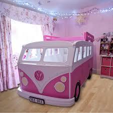 pink volkswagen van camper van children u0027s bed childrens beds cuckooland
