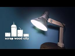 Make Wood Desk Lamp by Super Easy Diy Upcycled Desk Lamp Youtube