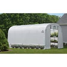 6ft X 8ft Greenhouse Shelterlogic Growit Heavy Duty Round Greenhouse U2014 12ft W X 20ft L