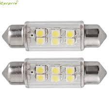 car dome light bulbs 2 pcs super bright led 39mm smd 6 led car dome light us 0 69