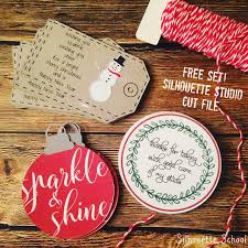 set of christmas gift tags free silhouette studio cut file free