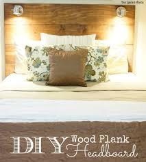 diy headboard with lights diy wood plank lighted headboard
