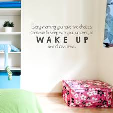 Quote Decals For Bedroom Walls Chase Dreams Wall Quote Decal