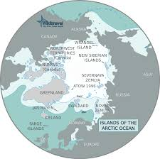 Arctic Circle Map Map Of Arctic Islands U2022 Mapsof Net