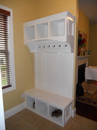 lockers for home storage with elegant white mudroom bench ideas