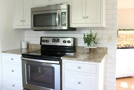 backsplash wallpaper for kitchen white subway tile temporary backsplash the tutorial the