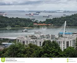 landscape view of quay at singapore harbour stock photo image