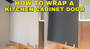 How To Paint Your Kitchen Cabinets Like A Professional How To Wrap A Kitchen Cabinet Door Diy Vinyl Wrapping Tutorial