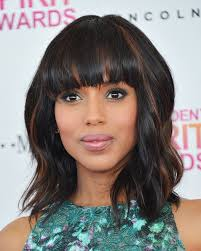 even hair cuts vs textured hair cuts kerry washington proves you can look super chic with a mid length