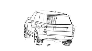 land rover drawing new 2013 range rover renderings autoevolution