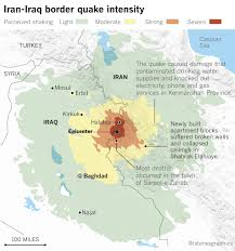 middle east earthquake zone map officials in iran and iraq order aid rushed to areas hit by deadly