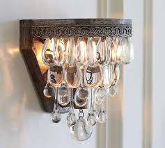 pottery barn lighting sconces clarissa crystal drop sconce pottery barn