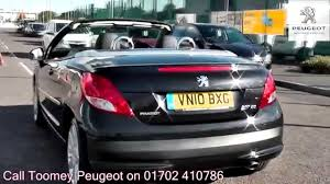 peugeot 2010 2010 peugeot 207 cc allure 1 6l morello black metallic vn10bxg for