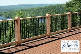 how to install deck railings and balusters yourself wood deck