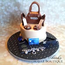 themed accessories a shopping themed birthday cake all the accessories on this cake