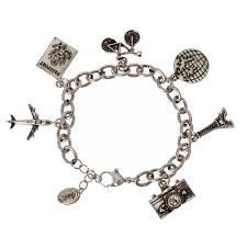 themed charm bracelet silver tone travel themed charm bracelet icing us