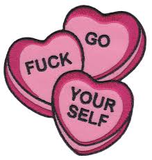 candy hearts sourpuss candy hearts patch sourpuss clothing