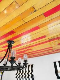 Fancy Ceilings How To Cover A Ceiling With Reclaimed Wood Floors Hgtv