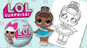 lol surprise doll baby coloring toy book pages