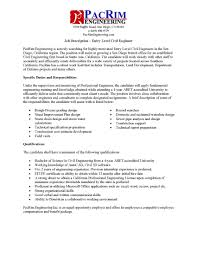 Civil Engineer Job Description Resume Career