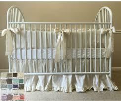 Crib Bedding Neutral Linen Crib Bedding Neutral Baby Bedding Set Ruffled