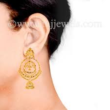 gold jhumka hoop earrings gold jhumka chand bali zevar indian jewelry gold