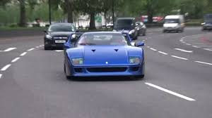 blue f40 cars october 2015 blue f40 blue enzo laf mansory torofeo