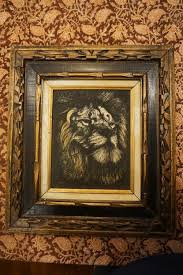 artini engraving vintage artini lion engraving painted in westchester
