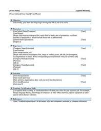 Example Chronological Resume by Acting Resume No Experience Template Http Www Resumecareer
