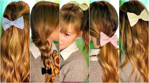Quick Easy Hairstyles For Girls by 6 Cute Easy U0026 Quick Heatless Hairstyles Using Bows Back To