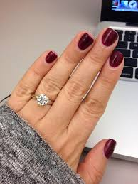what colour nail polish do you think looks best with your ring