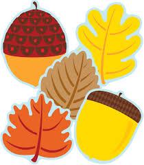 cut outs leaves acorns cut outs grade pk 5 carson dellosa publishing