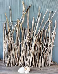 driftwood branches and sticks for beach wedding centerpiece