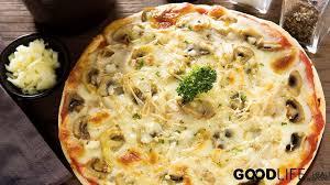 cuisine pizza พ ซซ าหน าเห ด ส ตรเด ดม งสว ร ต ปลอดเน อ สไตล อ ตาเล ยน