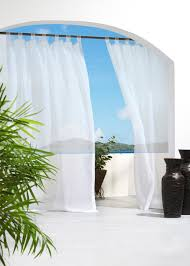 escape indoor outdoor hook and loop tab top voile panel indoor