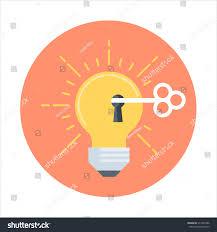Flat Light Bulb Light Bulb Creativity Flat Style Colorful Stock Vector 311584766