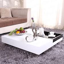 low square coffee table ospi white gloss square coffee table low table with black storage