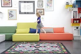 sofa kinderzimmer die modulare sofalandschaft cubit passt überall hinein