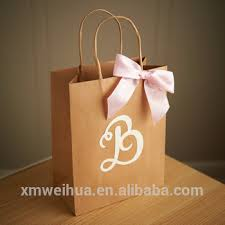 custom favor bags custom gift bags for wedding guests large kraft paper bags with