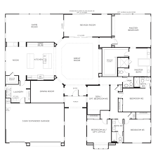 Modern Farmhouse Floor Plans Simple Single Floor House Plans Lrg Dbbbaba Gif Surripui Net