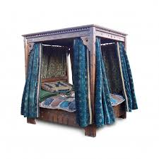 prop hire beds large 4 poster bed with velvet drapes keeley hire