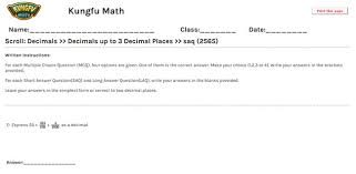 math grade 4 decimals worksheets and resources singapore math