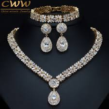 cubic zirconia necklace set images Cwwzircons exclusive dubai gold color jewellery luxury cubic jpg