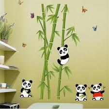 stickers chambre d enfant bamboo panda vinyle stickers muraux pour enfants chambres d
