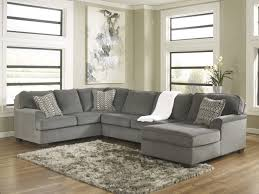 Chenille Sectional Sofas by Loric 12700 Smoke Grey Sectional Sofa Living Spaces Ashley Home