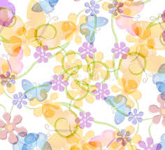 flower and butterfly pattern stock illustration illustration of