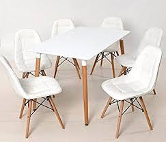 design holztisch design holztisch esstisch nolan 120x80 weiß holzfüße retro