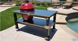 Big Green Egg Table Dimensions Table Gallery Brian Alan Tables