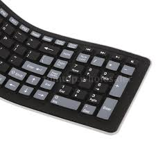 light up wireless keyboard mini flexible roll up soft silicone wireless keyboard w usb receiver