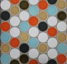 ceramic 2 inch circle offset sheeted tile modwalls designer tile